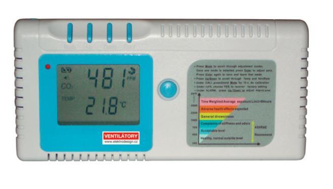 Detektor koncentrace CO2 EDF-CO2