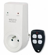 Dálkově ovládaná zásuvka - přijímač a vysílač (klíčenka) Elektrobock WS 313