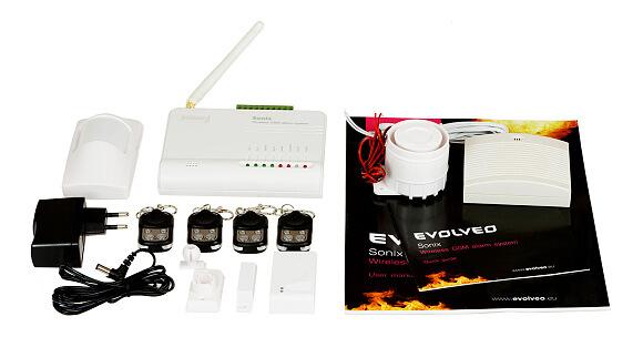 Příklad bezdrátového alarmu - Evolveo sonix