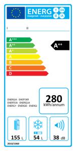 Příklad energetického štítku (zdroj: Wikipedie)