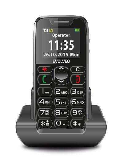 Mobilní telefon pro seniory Evolveo Easy Phone (zdroj: www.evolveo.eu)
