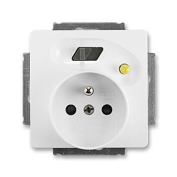 Zásuvka s proudovým chráničem (ABB)