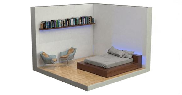 Chtěli byste si pohrát s barvami a detaily v domě? Pro tento účel je nejvhodnější LED pásek (Zdroj: Elko EP).