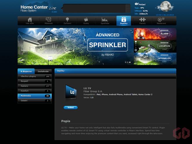 Webový prohlížeč - přidání ovládače zařízení třetí strany