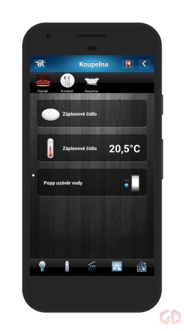 Aplikace pro mobilní telefon - zařízení v kuchyni